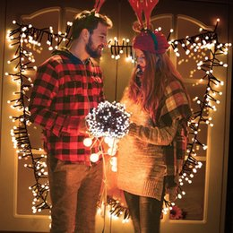 Wholesale Light Curtains For Weddings - Globe String Light Curtain 10Ft 400 LED Starry Fairy Lights Waterproof Decorative String Light 8 Modes for Christmas Garden Wedding Party