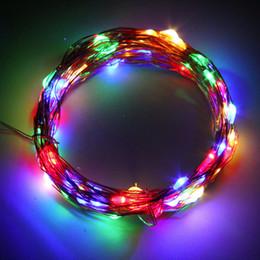 le luci fiabesche funzionano a batteria all'ingrosso Sconti Wholesale- 10M 100LED Copper Wire Xmas Wedding String Luce fata Lampada Battery Operated Negozio in tutto il mondo