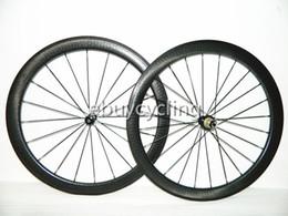 Può dipingere logo Ruote in carbonio per copertoncino con fossette ruote bici da strada in carbonio 700c 50mm ruote in carbonio per bici ruote in carbonio cerchi stradali da ruota di carbonio dimple fornitori