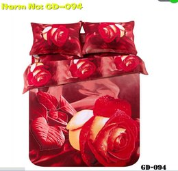 Wholesale Wolf Comforter Full - Wholesale-*3d Your Life! 100% Cotton 7PCS luxury 3D wolf dolphin tiger rose bed in a bag queen comforter sets