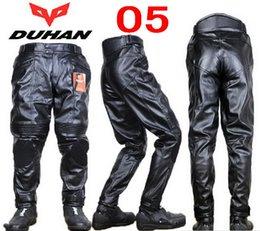Wholesale Motorbike Waterproof Pants - Wholesale-Fashion DUHAN 05 motocross motorcycle pants motorbike trousers made of Polyurethane PU waterproof windproof size M L XL XXL