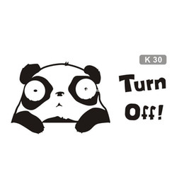 Wholesale Socket Switch Stickers - 100pcs Panda daze switch stickers cartoon bedroom living room wall stickers self-adhesive socket switch posts k30