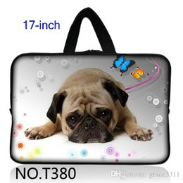 "Wholesale Neoprene Laptop Sleeves Handles - Lovely Dog 17"" 17.3"" New Neoprene Laptop Bag Sleeve Case +Handle for HP Pavilion G7 DV7 E17"