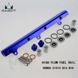 Wholesale B16 Civic - Aluminum Fuel High Flow Injector Rail for Civic EG EK B16 B18 B16a B18a B16b blue M44304