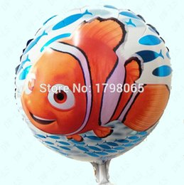 bprice-bprice prices - 50pc Nemo Fish Foil Helium air Balloon Wedding Birthday Party Christmas Decoration Kids Cartoon ball Cartoon Gift Favourite Toy