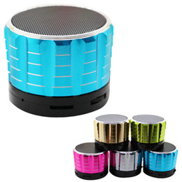 Wholesale Hands Free Sport Mp3 Player - Universal S15 Bluetooth Speakers Multicolor Portable Hand Free Super Bass Metal Speaker For Outdoor Sports DHL Free MIS074