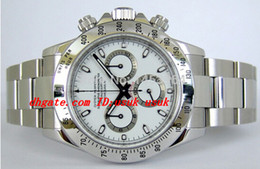Stahllieferanten online-Fabrik Lieferant Luxus Armbanduhr 116520 Weißes Zifferblatt Edelstahl Armband Automatische Herren Herrenuhr Uhren