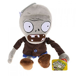 Wholesale Zombies Plush Toys - Plants VS Zombies Plush Toy Stuffed Animal - Grey Zombie 28cm 11Inch Tall