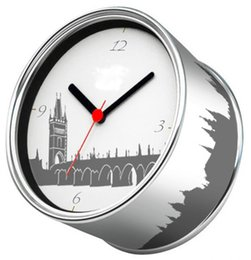 Wholesale England Souvenir - Free Shipping-2014 London Bridge England Wall Clocks Desk Clock Function Magnetic Table Clocks On Back City Gift Souvenir Time