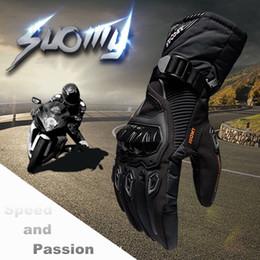 Wholesale Women Motorcycle Winter Gloves - New Keep warm full finger 100% Waterproof Motorcycle Gloves Winter Touch Screen Racing Gloves Motosiklet guantes de moto XXL
