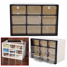 Wholesale Organizer Plastic Storage Drawers - 9 Grid Transparent Plastic Storage Cabinet Multi Layer Drawer Save Space Box Cabinets Food Sundries Organizer Home Accessories