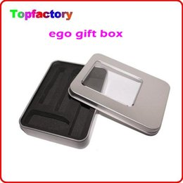 Wholesale Ego Ce4 Gift Box - Silver Metal Case E Cigarette Gift box for eGo CE4 CE5 CE6 Series Aluminium Case Suit for 650 900 1100mAh Battery DHL free shipping