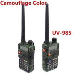 Wholesale Dual Vhf Radio - Wholesale-New TONFA UV-985 8W Dual Band VHF+UHF 136-174MHz&400-470MHz Two Way Radio TONFA UV 985 VOX DTMF Walkie Talkie UV985