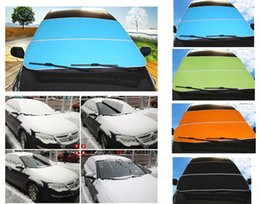 Wholesale Sun Protection Car Covers - New Upgrade Car Windshield Snow Blocked Sun Shade Anti-UV Covers Reflective Foil For SUV And Ordinary Car