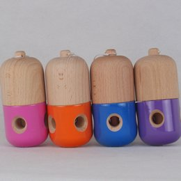 Wholesale Kendamas Free Shipping - games factory customes sales cheap price wood kendama pill toy ball Easter gifts eggs Kendamas free shipping