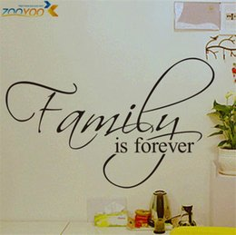 Wholesale Decorative Wall Decals Quotes - family is forever home decor creative quote wall decals zooyoo8068 decorative adesivo de parede removable vinyl wall stickers