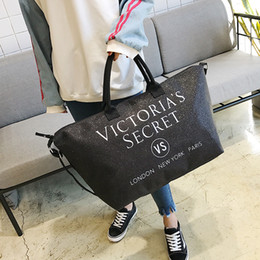 Wholesale Fashion Totes Wholesale - New Arrivals love pink Totes bags women shoulder bag fashion bag 3 colors DHL Free Shipping