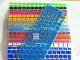 Wholesale Macbook Pro Keyboard Cover White - Wholesale-1pc free ship German Language Silicone Keyboard Cover skin sticker For Macbook White Air Pro 13 15 17 inch UK EU Keyboard layout