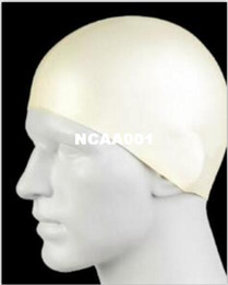 Hombres al por mayor - Durable con estilo deportivo Látex Natación sombrero flexibilidad deporte Natación Gorro de baño Sombrero 2 colores desde fabricantes