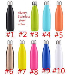 Wholesale Sport Water Bottle Stainless Steel - Stainless Steel Cola Shape Bottle Water Bottles Vacuum Cups Sports Bottles Outdoor Drinkware Kettle 500ml Support OEM Fashion