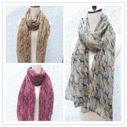 Wholesale Horse Scarfs - 2015 Hot Sale New Animal Printed Voile Scarves Spring Scarfs Women scarf Horse Ladies Shawls scarf Unique