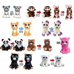 Wholesale Wholesale Panda Bear Plush - Change Face Feisty Pets Plush Bear Dog Monkey Toys With Funny Expression Stuffed Animal Doll For Kids Christmas Gift z086