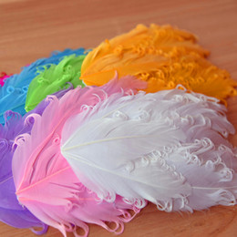 Wholesale Goose Decors - 24pcs Curly Feather Pad Wholesale,Supplies for Making Hair Clips,Headband,Hair flower Goose Feather Pads Wedding Decor