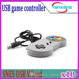 Wholesale Snes Usb Controller Wholesale - 10pcs New Game controller Colorful button USB port Replacement Controllers for Super Nintendo SNES gamepad Free Shipping ZY-PS3-17