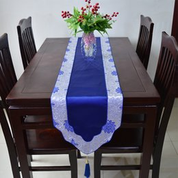 Wholesale Wedding Linen Table Cloth - Classic Patchwork Table Runner New Luxury Table Linen Silk Brocade Rectangle Table Cloth Dining Table Mats For Weddings Reception Decoration