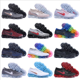 Wholesale Round Weave - 2018 New Running Shoes For Mens Womens Sports Shoes Cheap High Quality Outdoor Athletic VaporMax Woven Surface Sneakers Size 5.5-11