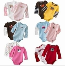Wholesale Baby Bodies Long Sleeve - Wholesale - Rompers Body Suit Baby One-Piece Rompers Romper 100% Cotton