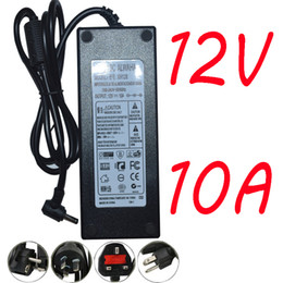Wholesale Uk Cctv - EU US UK AU Power Supply Adapter Transformer AC 100-240V to DC12V 10A Power Supply 120W for strip and CCTV 50pcs free shipping