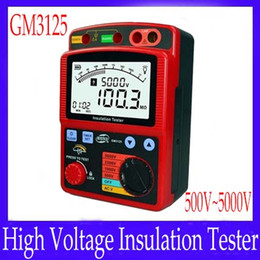 Wholesale Insulation Tester Meter - Digital High Voltage Insulation Meter Tester GM3125 500V 1000V 2500 5000V MOQ=1 free shipping