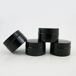 Wholesale Black Cosmetic Jars - 20 x 120g Travel All Black Cosmetic Jar Pot Makeup Face Cream Container Bottle 4oz Cream Cosmetic Packaging