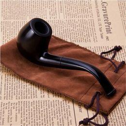 Фильтровальные круги онлайн-Подарочный набор деревянная труба 9 мм черный табак трубы фильтр трубы металлическое кольцо курительная трубка для продажи