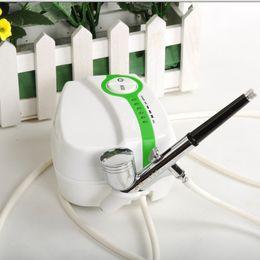 Wholesale Airbrush Machines - Wholesale-New Airbrush Machine Makeup Nail Cake Decorating Convenient Spray US Plug Wholesale&Retail free shipping