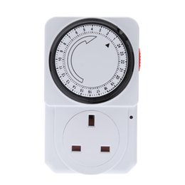 Wholesale 24 Hours Timer Switch - Wall Timer Switch Energy Save Program Timer Power Switch 24-Hour Mechanical Electrical Home security system control Power Switch