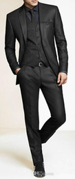 Wholesale Charcoal Wedding Suits - Men Slim Fit Suits Custom Made Charcoal Grey Groom Suit, Bespoke Tailor Wedding Suits For Men, Mens Wedding Tuxedos Suits