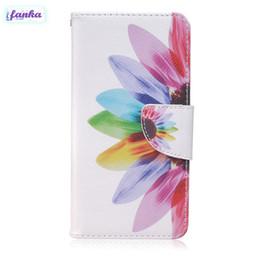 Vente Chaude Portefeuille Cas Flip PU En Cuir + Doux TPU Fleurs Peinture Cas drôle Stand Protection Peau pour BQ M5 iPhone 7 Case ? partir de fabricateur