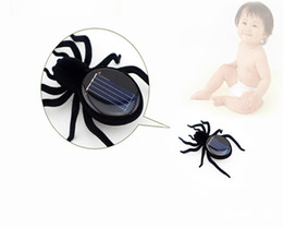 Wholesale Plastic Insects Toys - Novelty Toys New High Quality Solar Power 8 Legs Black Crazy Spider Children Toy Solar Energy Toy Free Shipping A-201