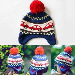 Wholesale Cars Knit Hat - New Winter Hats Warm Ball Knitted Hat Beanies Ski Cap for Baby Children Car Helmet Chapeu