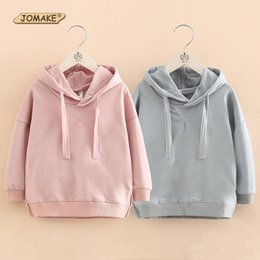 Wholesale Hoodies For Baby Girls - Wholesale- New Spring Autumn Children Hooded Sweatshirt Baby Girl Clothes Brand Girls Hoodies Long Sleeve Pullover Tops Costumes For Kids