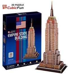 Wholesale Empire State Building 3d - Wholesale-Paper model,Children's DIY toy,Paper craft,Birthday gift,3D educational Puzzle Model,Card model,Empire State Building