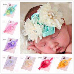 Wholesale Cheap Babies Accessories - 30 pcs Newborn Baby Photo Prop Cheap Headband Hair Bows Baby Hair Accessories Christening Headbands shabby flower headband