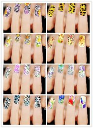 Wholesale Tiger Water Decal Nail - Hot Selling Floral Nail Decals Stickers Water Mark Leopard Tiger Giraffe Beauty Nail Decorations Tips Tool