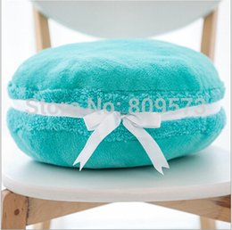 Wholesale Girlfriend Cushion - Fashion kawaii Blue Macaron shape cushion round cake pillow Sofa Decoration Home Decor Girlfriend gift Wedding Decoration