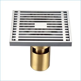 Wholesale Brass Drain Strainer - All copper floor drainer strainer,brass floor drain bathroom,water drainage waste discharge floor drain,J14125