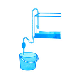 Pompe ad aria acqua online-2014 Nuovi acquari Decorazione Serbatoio di pesce Sifone Ghiaia Pompa per pulizia manuale Aspirapolvere sicuro Cambio acqua Acquario Pompe d'aria, dandys