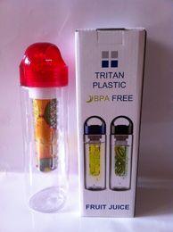 2015 caliente! Nuevo 700ml Infusión de frutas BPA Botella de jugo de bebida desintoxicante libre, vasos de plástico fácilmente taza taza de fruta de limón desde fabricantes