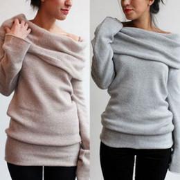 Wholesale Wool T Shirt Women - free shipping 2015 new style T-shirts women Long Sleeved bottoming sweaters size S-2XL GRAY AND KHAKI